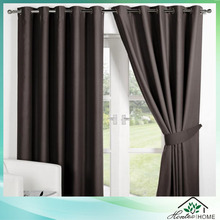 modern poly silk eyelet curtain for hotel
