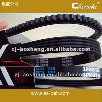 auto timing /pk belt, fatigue life 10,000km  EPDM CR material,factory outlet,large amount of the price.