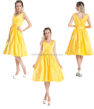 50's vintage swing dress yellow rockabilly dress retro dress made in china