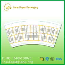 high quality disposable paper cup fan for coffee/customized design and logo 6 color printed paper cup sleeve/blank