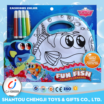 Eco friendly painting handbag stationery kids drawing set