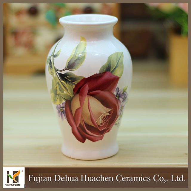 2015 new products ceramic flower table decoration vase