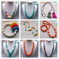 plastic beads necklace& bead chain necklaces designs