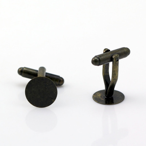 Beadsnice ID21872 brass cufflink findings base sold by PC fashion cuff link for men