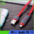 eco friendly silicon flat 2 in 1 usb data cable wire usb charging cable for Apple and smartphone