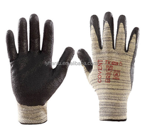 Crinkle finished latex coated working gloves