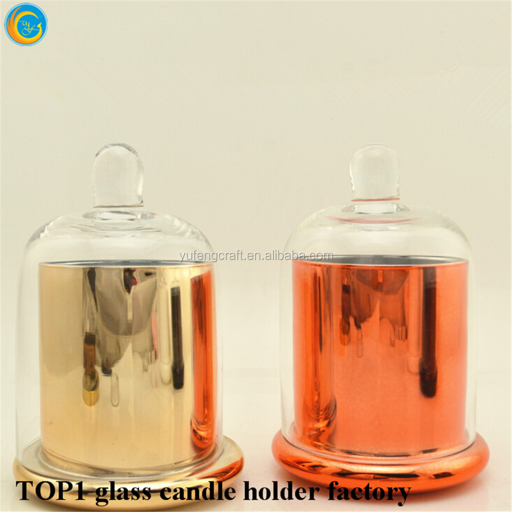 Hot Sale Glass Cloche Jar with Dome for Home Christmas Decoration