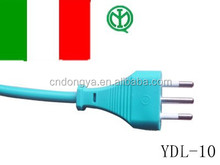 Italy IMQ approval 220v power cord cable for plug adapter