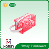 2016 China manufacture New design fashion printing mesh pvc cosmetic bag with handle