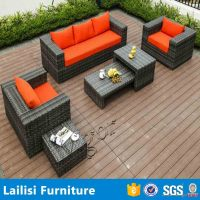 Cheap used furniture muebles de rattan sofas for cafes and restaurants