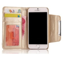detachable wallet leather case for iphone 6 cell phone accessories