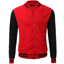 Wholesale high quality satin baseball jacket blank black red varsity jackets