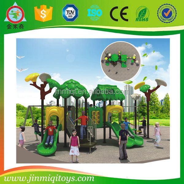 Colourful outdoor playground equipment, outdoor preschool playground equipment with swing chair
