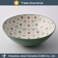 Modern decal Japanese style ceramic large noodle bowl