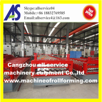 Trapezoidal roofing sheet roll forming machine for Russia