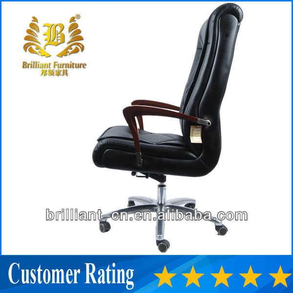antique design wood armrest and frame comfortable tall back leather home office chair BF-8915