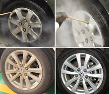 Car Wheel Steam Cleaning
