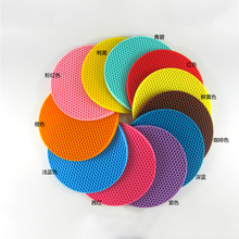 Wholesale Multifunctional Heat Resistant Round Silicone Pot Holders/Silicone Drying Mat/Silicone Hot Insulation Pad