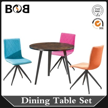 round luxury dining table set/wood dining table set