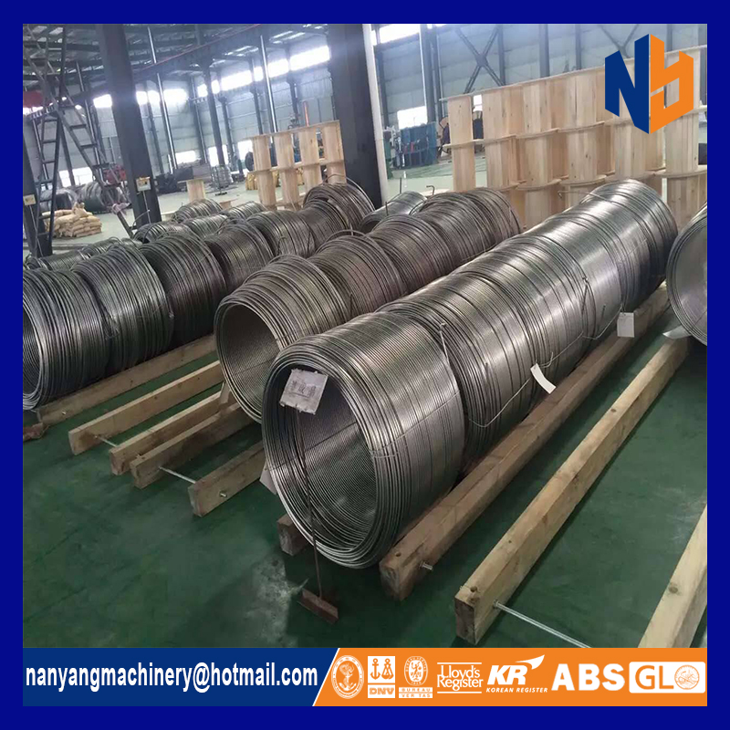 precision stainless steel capillary tube coil for heat exchanger