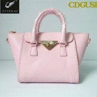 Women Lady Trend Big Brand Handbag pink luxury high quality imitation handbag