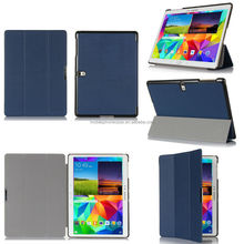 PU Leather + hard pc cover case for Samsung Galaxy Tab S 10.5 ultra-thin with stand auto sleep/wake function