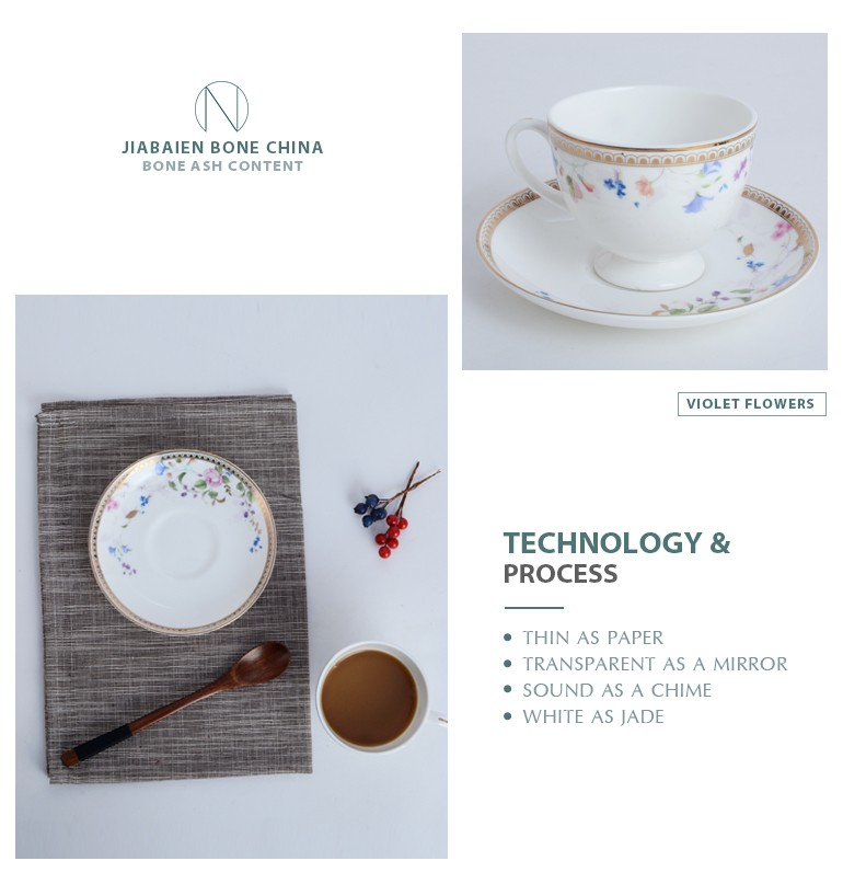 Wholesale fine bone china ceramic coffee tea bulk tea cups and saucers cheap with superior quality