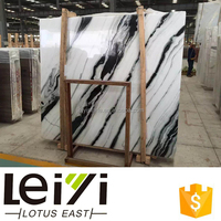 Good price china panda white marble slab products