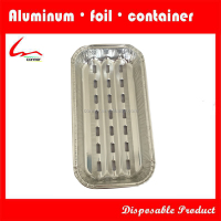 The aluminum foil baking tray, suitable for beef and mutton. Convenient and affordable disposable products