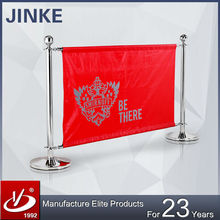 Custom Recycle Steel Commercial Display Canvas Polyester Barrier