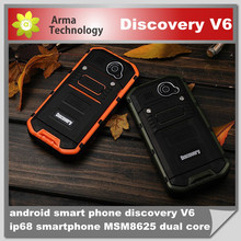 "Original Android Smartphone Discovery V6 Android 4.1.2 Waterproof Dustproof Shockproof Phones Dual Camera Phone 3G 4.0"" IPS"