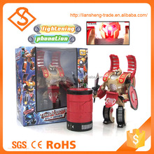 Best quality children educational battery operated changeable robot toys with light