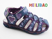 kids sole design fancy flat sandal children leather school shoes