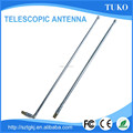 uhf/vhf dipole antenna 7 sections 440mm F connector am radio telescopic tv antenna