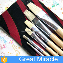 high quality wooden oil painting paint brush chinese art supplies