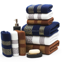High Quality Luxury Brand Soft 100% Cotton Embroidered Towel Bamboo Bath Towels