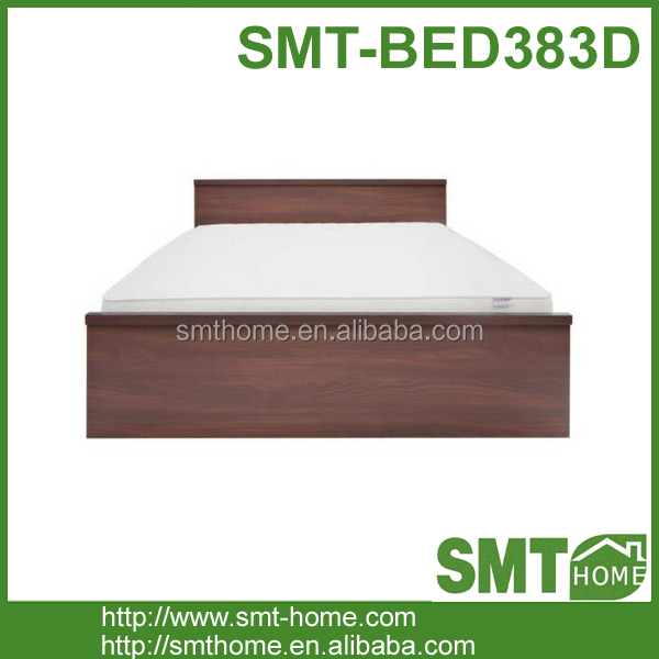 Modern style panel material low height custom bed