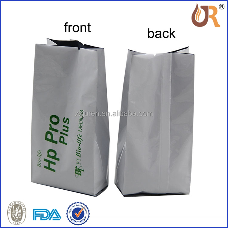 side gusset back sealed vacuum tea aluminium foil coffee pouch bag manufacturer