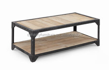 Vintage two layers industrial coffee tables
