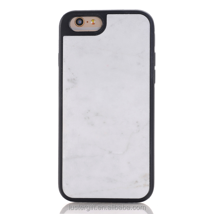 Best selling ! Natural white marble cell phone case for iPhone 6S case