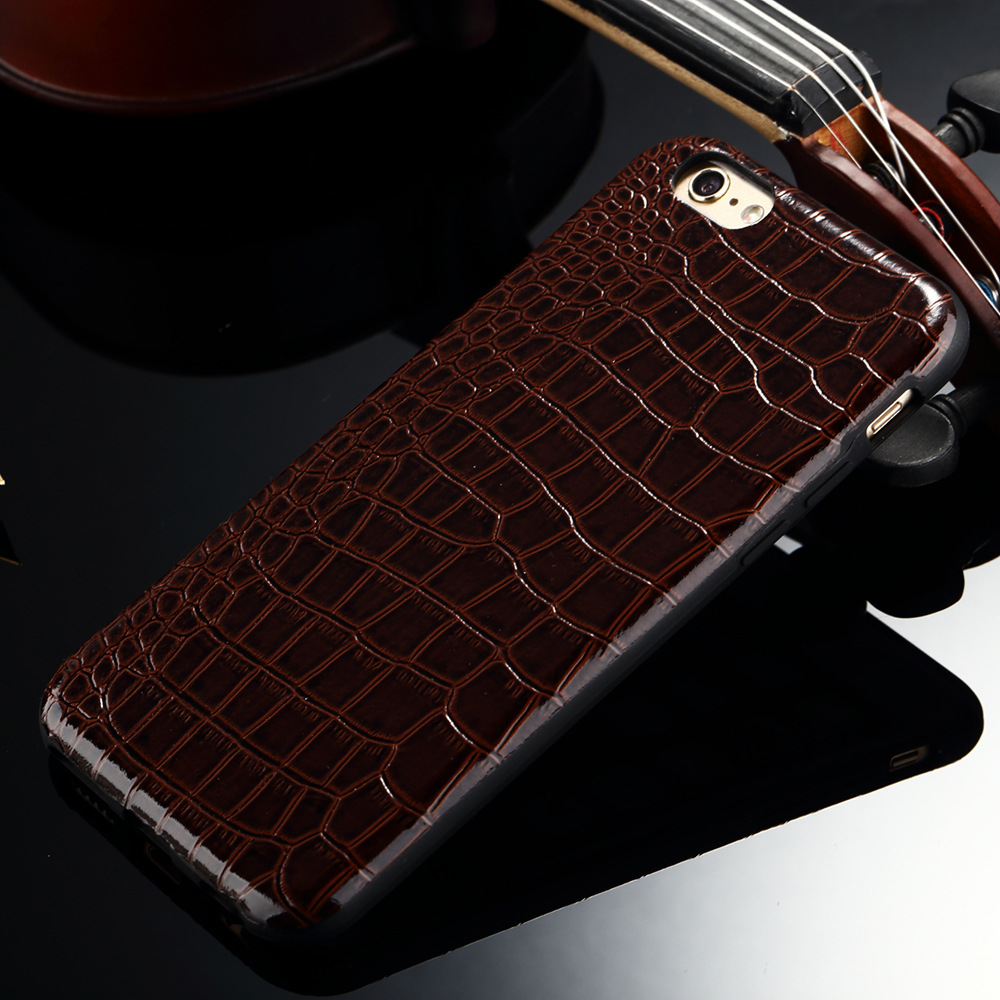 Luxury Fashion Design Crocodile Pattern Soft TPU Back Cover Case for iphone 6 6s