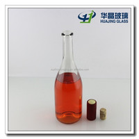 High quality 750ml empty liquor bottles sale with cork made in xuzhou