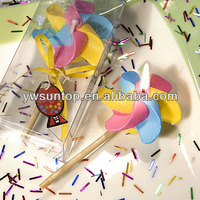 colorful windmill candle Favors baby shower favor