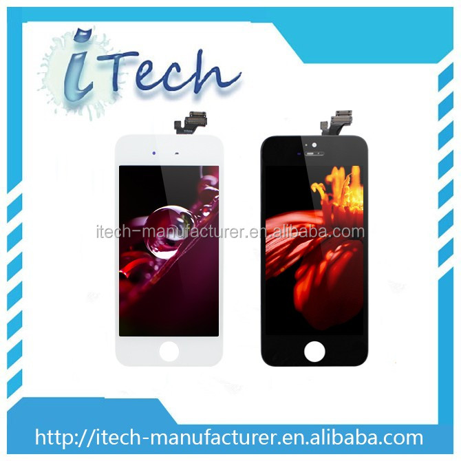 Globel Certificated Mobile Phone Parts for Apple iphone 5G LCD Display Touch Screen Digitizer