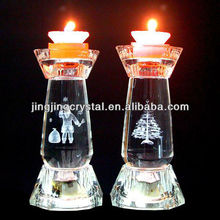crystal candle holder for bless and decoration in chinese tradition
