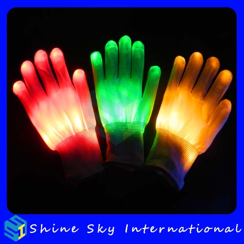 Fast shipping white gloves black light,party led glove street dancing fancy gloves ladies