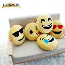 Wholesale Cheaper Emoji Pillow plush soft Round emoji pillow Cushion