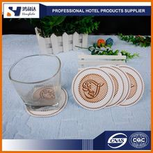 Disposable Absorbent Cardboard Coaster, Water Absorbing Paper Coaster Hotel Disposible Cup Pad