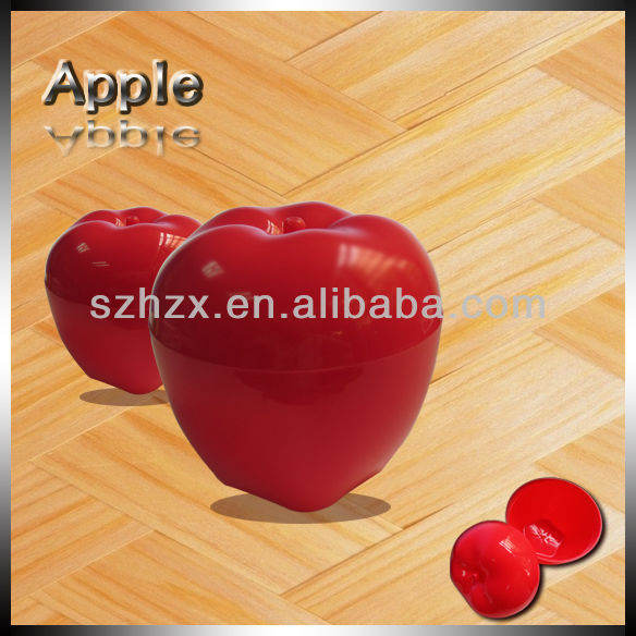 healthy food grade plastic red apple shape storage box