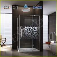 New design mirror rectangle hinge shower screen EX-423